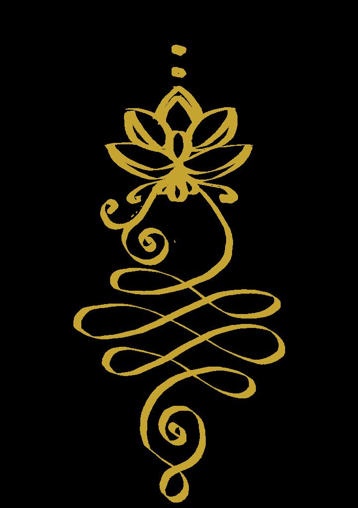 golden unalome enlightenment symbol